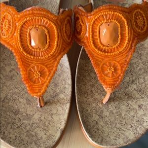 Bright orange Kenneth Cole Reaction thongs-size 10